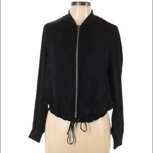h&m divided lightweight & thin black bomber jacket